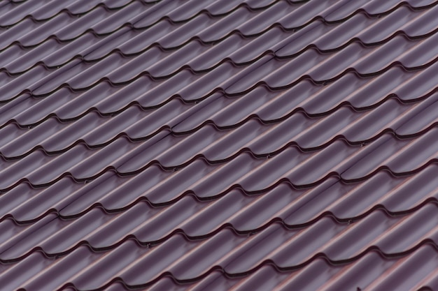 Close up of red plastic roof tile for background
