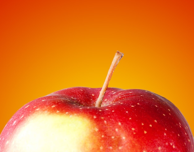 Close-up of red ripe apple. healthy food