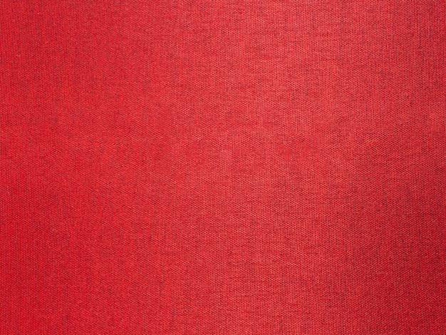 Close up red silk fabric