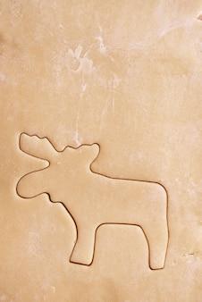 Primo piano di renne di pasta