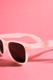 Close-up retro colored sunglasses