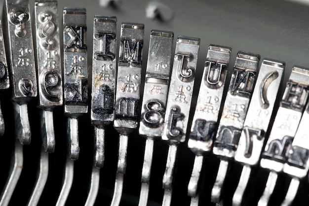 Close up of retro style typewriter