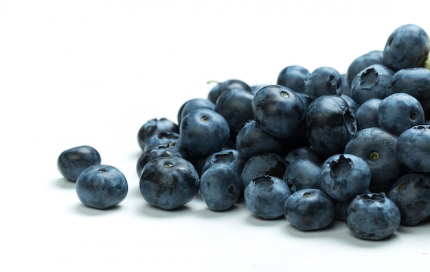 Close up of ripe blueberry isolated