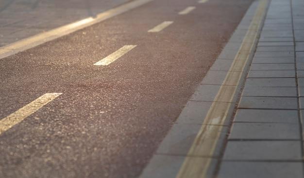 Primo piano vista stradale