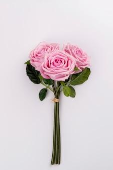 근접 장미 꽃다발