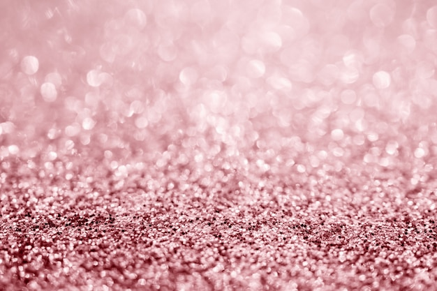 Close up of rose glitter texture