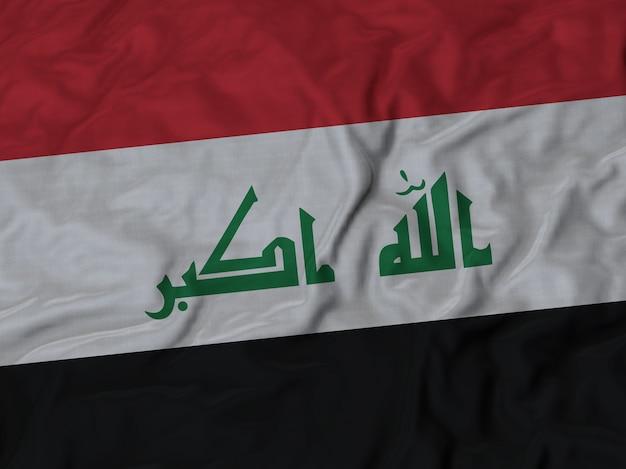 Close up of ruffled iraq flag