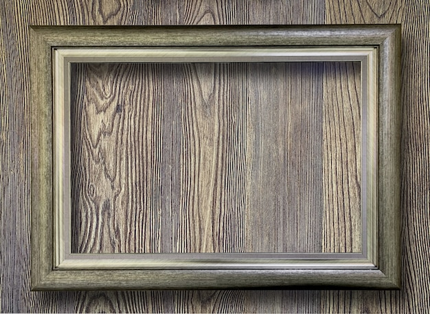 Close up rustic picture frame