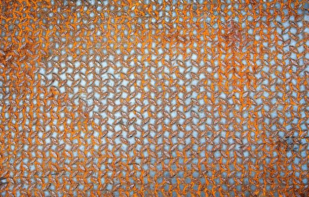 Close up rusty floor pattern