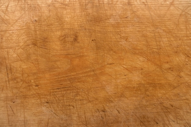 Close-up of scratched wooden floor