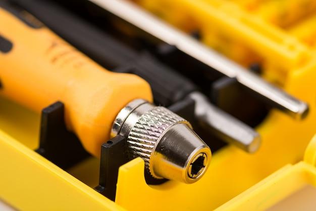 Close up screwdrivers