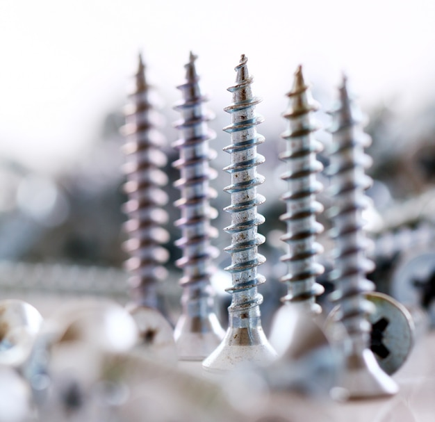 Close up of screws