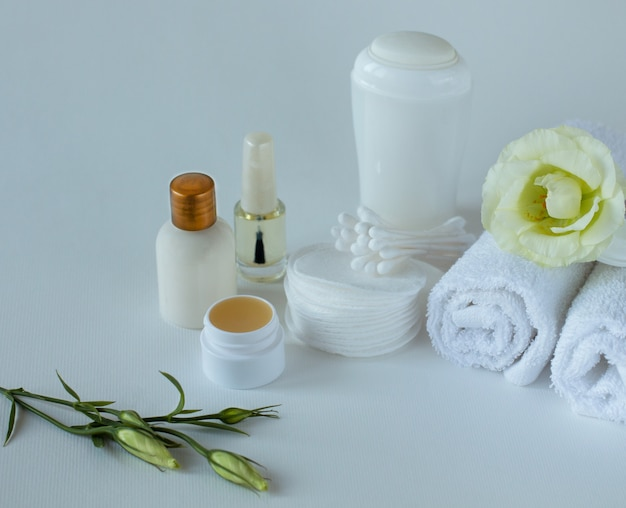 Close up of the set for body care