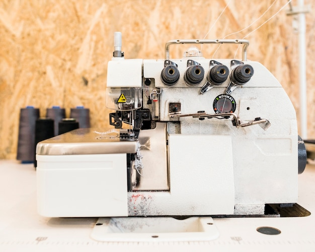 Close-up of a sewing machine in tailor shop
