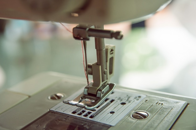 Close up sewing machine