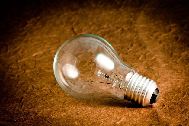Close-up di lampadina lucido