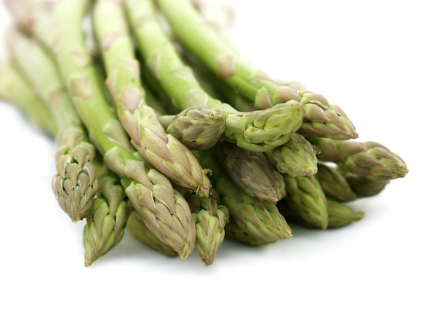 Close up shot of asparagus tips