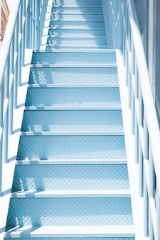 Close up shot of blue color pastel stair
