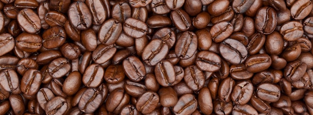 Close up shot of coffee banner background