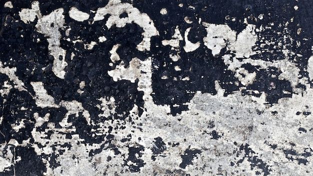 古い黒い壁面テクスチャ背景のクローズアップショット