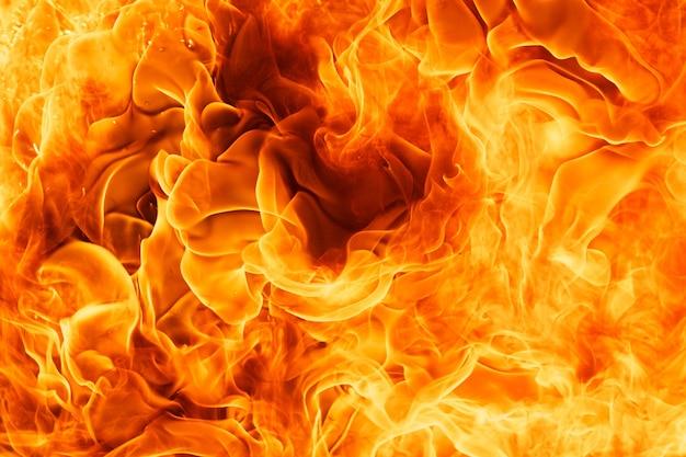 炎の炎のテクスチャ背景のクローズアップショット