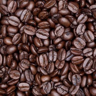 Крупным планом выстрел кофе фон