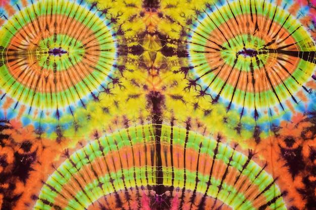 Крупным планом выстрел галстук краситель ткани текстуры фона
