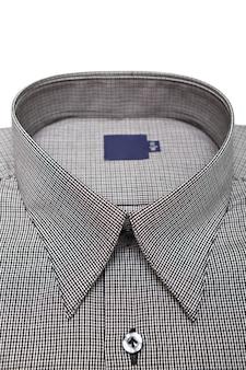클로즈업 샷 또는 새로운 남성 셔츠