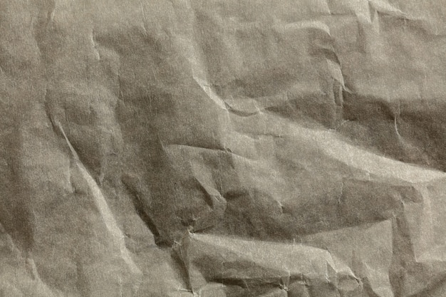 Close up shot of surface of crumpled paper texture
