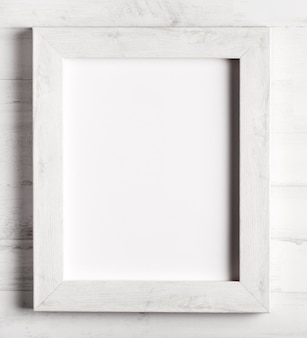 Close-up to simple wooden frame