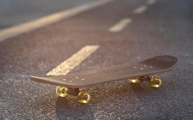Close up skateboard