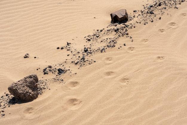 Close up of the skeleton coast desert dunes in namibia.