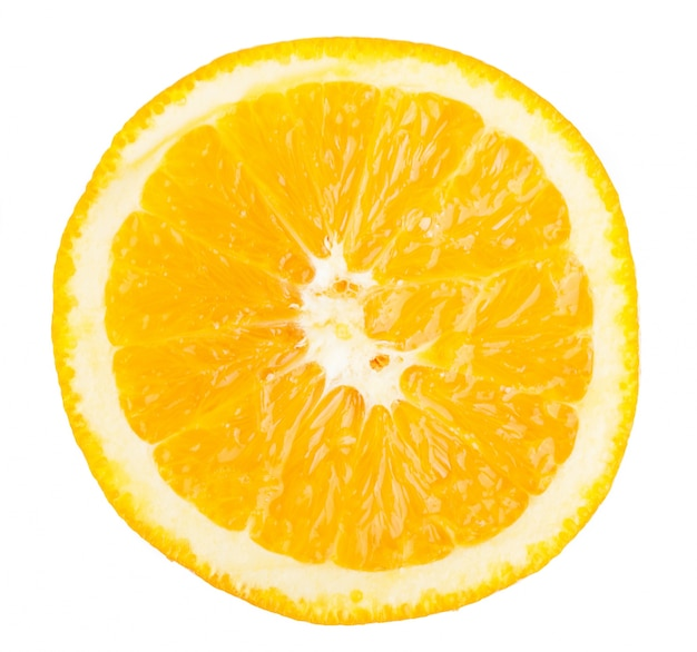 Primo piano della fetta di arancia