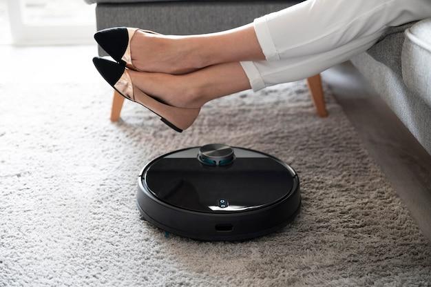 Close up smart vacuum cleaner