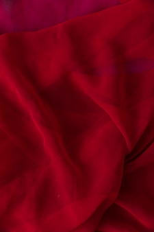 Close-up of smooth red fabric