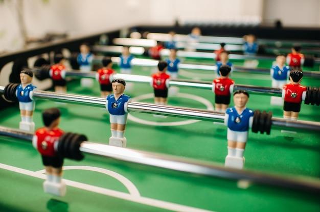 大人と子供のためのクローズアップサッカーボードゲーム。