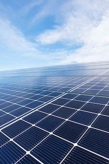 Close up solar roof