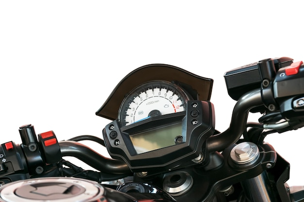Close up at speedometer of a motorcycle