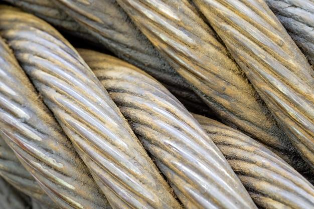 Спираль конца-вверх гигантского стропильного кабеля с деталями и текстурой