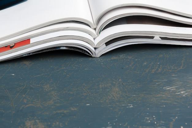 Close up stacking magazine place