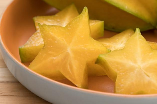Close up star fruit.