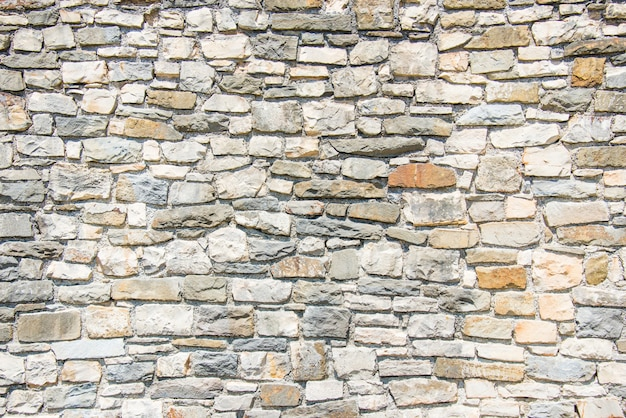 Close up of a stone wall.