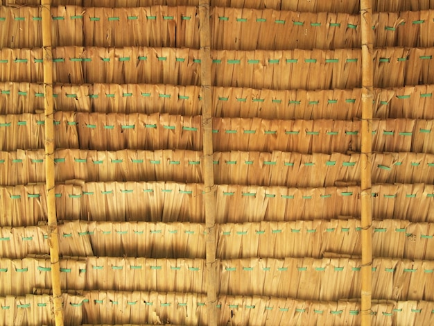 Close up straw background. texture of thatch roof