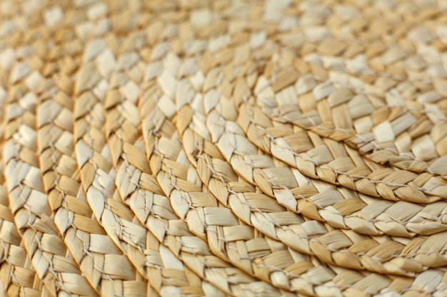 Close up straw hat. straw hat texture