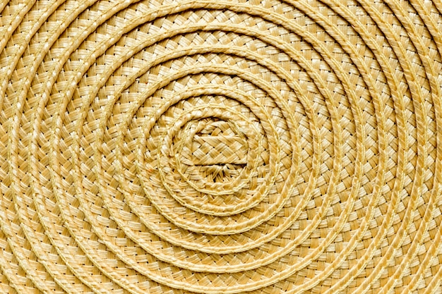 Close-up of straw table mat