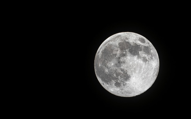 Close up of super full moon