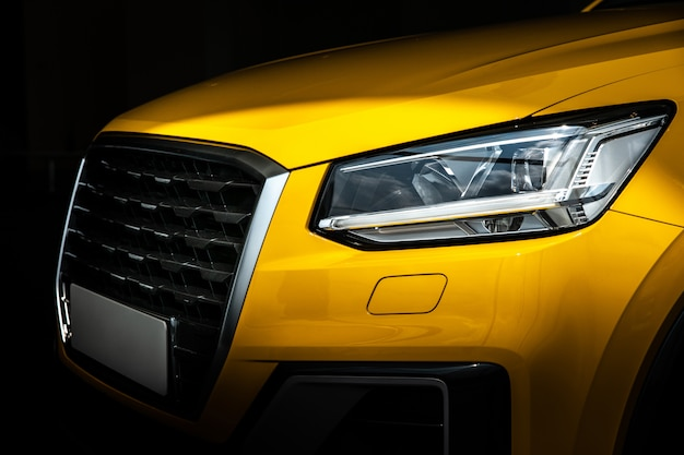 Close-up suv car with sport and modern style