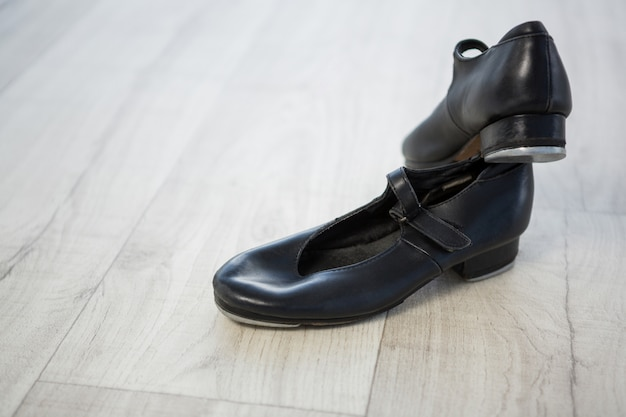 Close-up of tap shoes