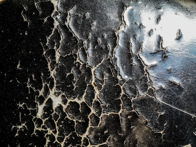 Close-up tear of black car seats texture abstract background