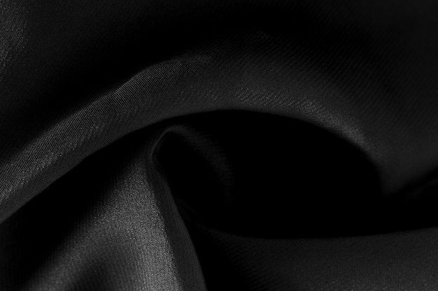 Текстура крупного плана черная ткань костюма